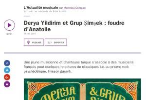 France Culture - Derya Yildirim et Grup Simsek