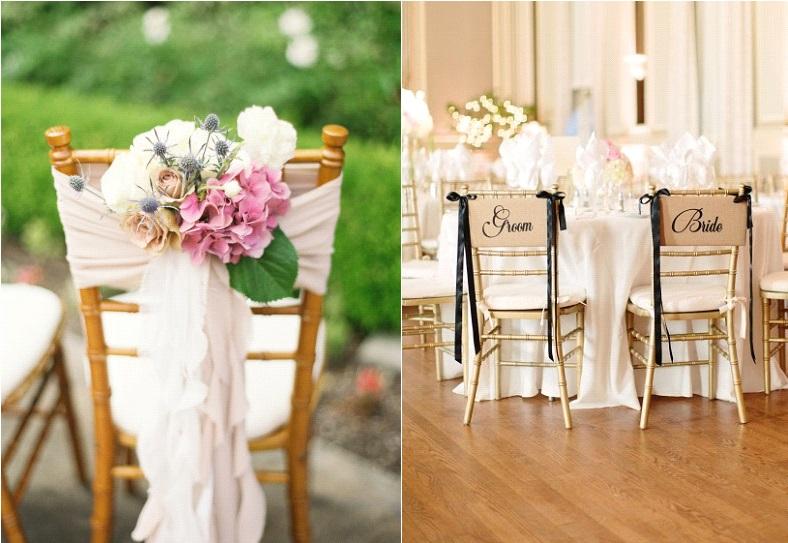 comment decorer des chaises pour un mariage