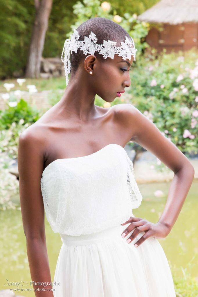 Robe de mariée et headband