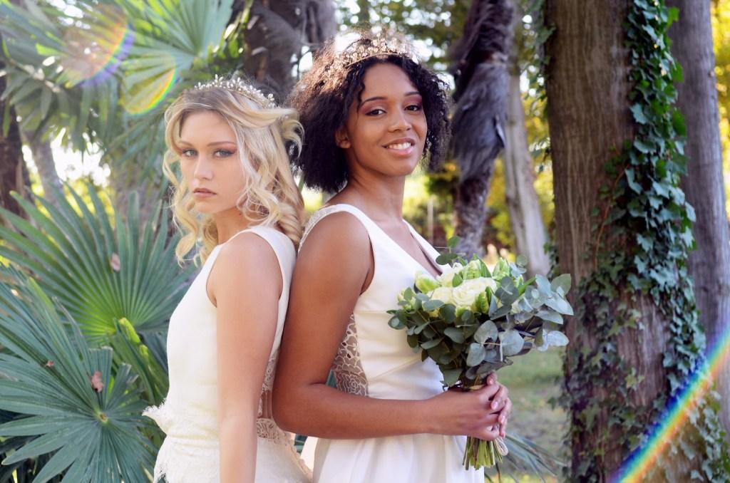 robes de mariée et accessoires de tête