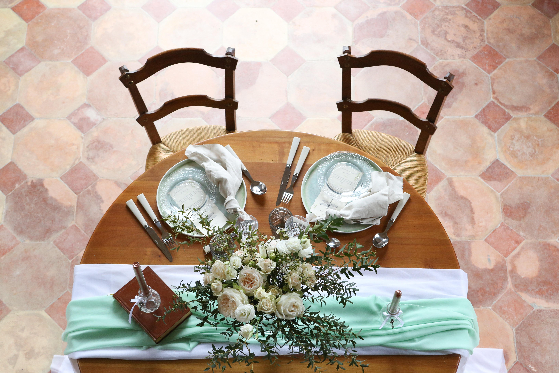 Table Mariage romantique