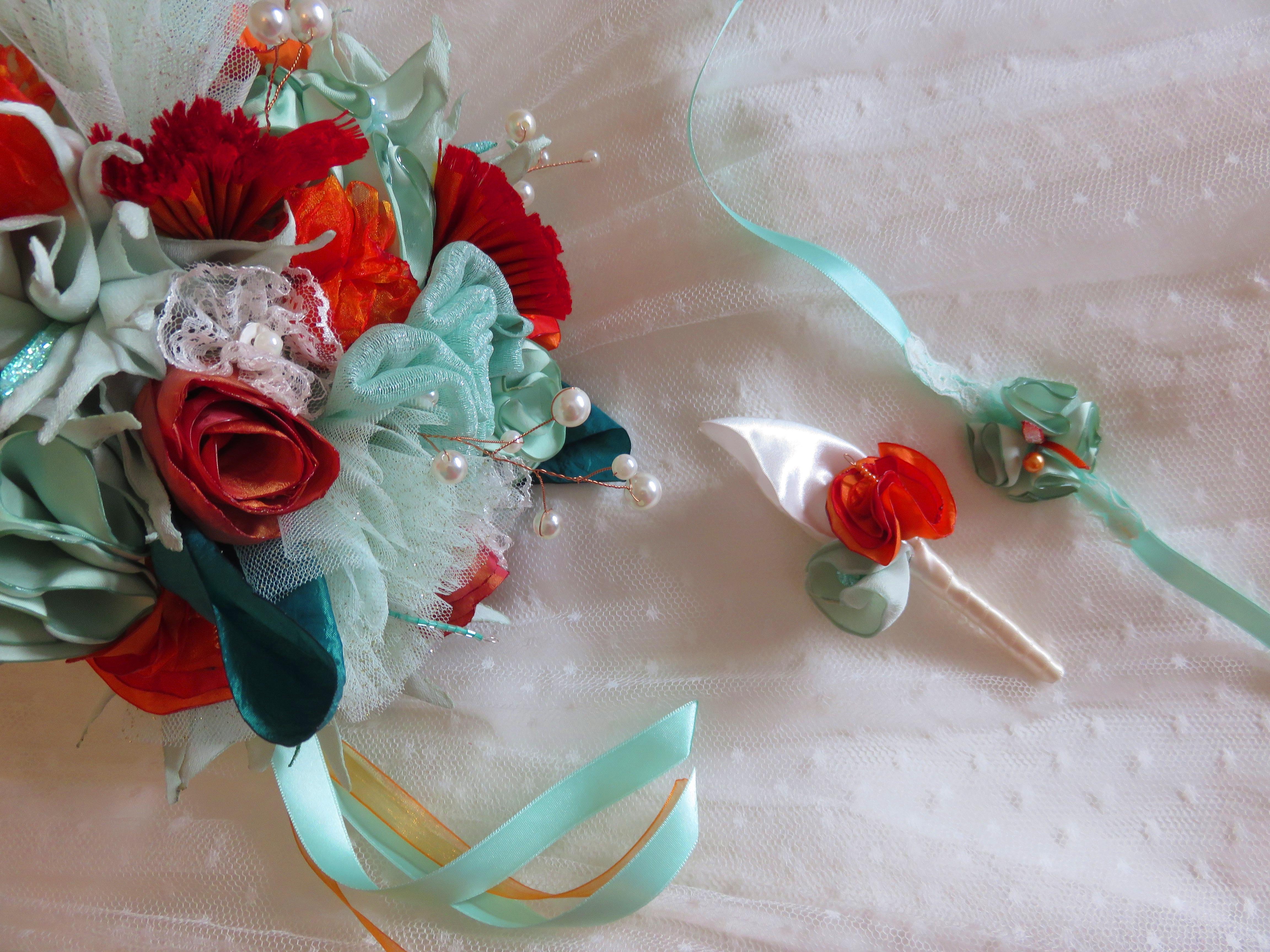 Accessoires Bouto marié et bracelet fillette