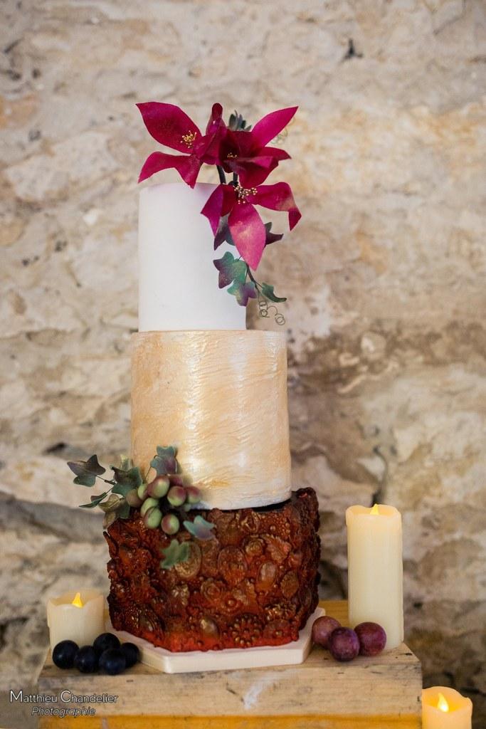 Mariage dans les vignes en automne