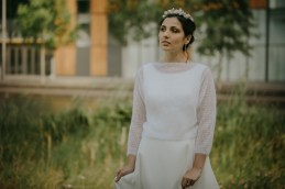 paquerette pull ouvert pour mariee manches chaudes pull de mariage automne hiver creation lyon veste tricotee.JPG (6)
