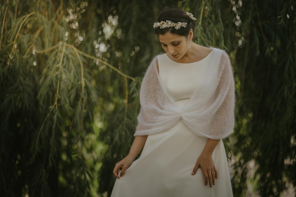 poppy chauffe epaule en mohair pour mariee robe de mariage automne hiver creation lyon veste tricotee (8)