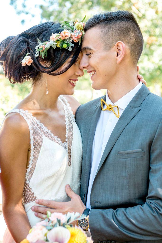 mariage acidulé jaune et vert