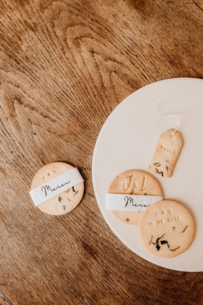 biscuits Mariage écologique