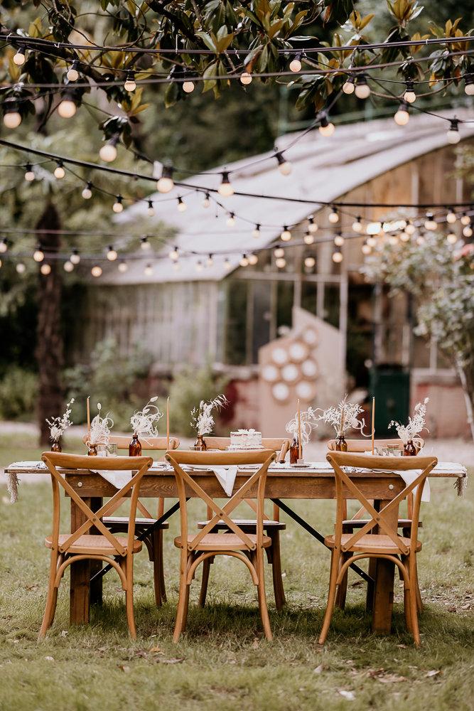 table bohème de mariage