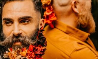 Homme fleuri