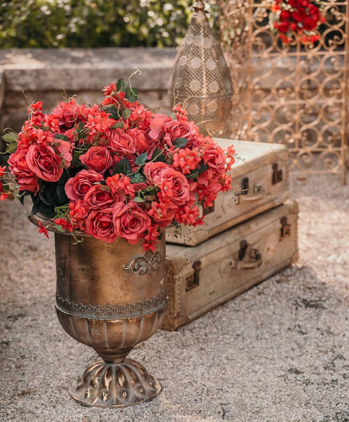 décoration fleurs orientales
