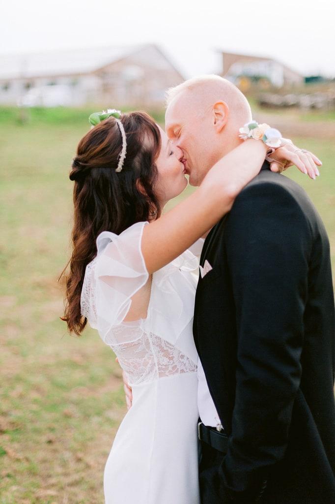 Mariage intime dans un haras
