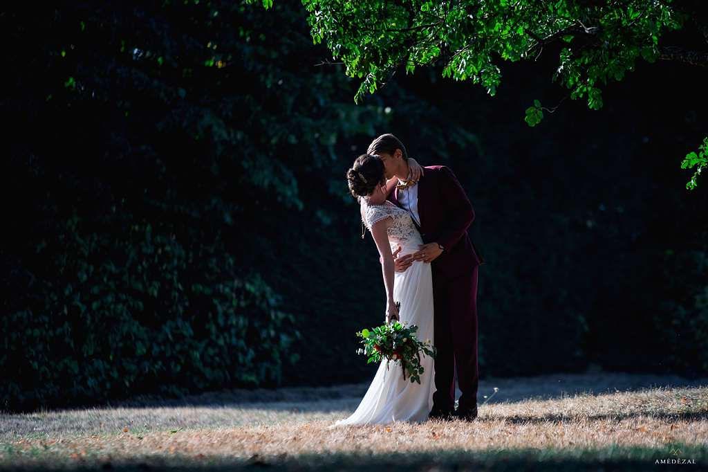 Mariage dans le rhone à la nuit tombée