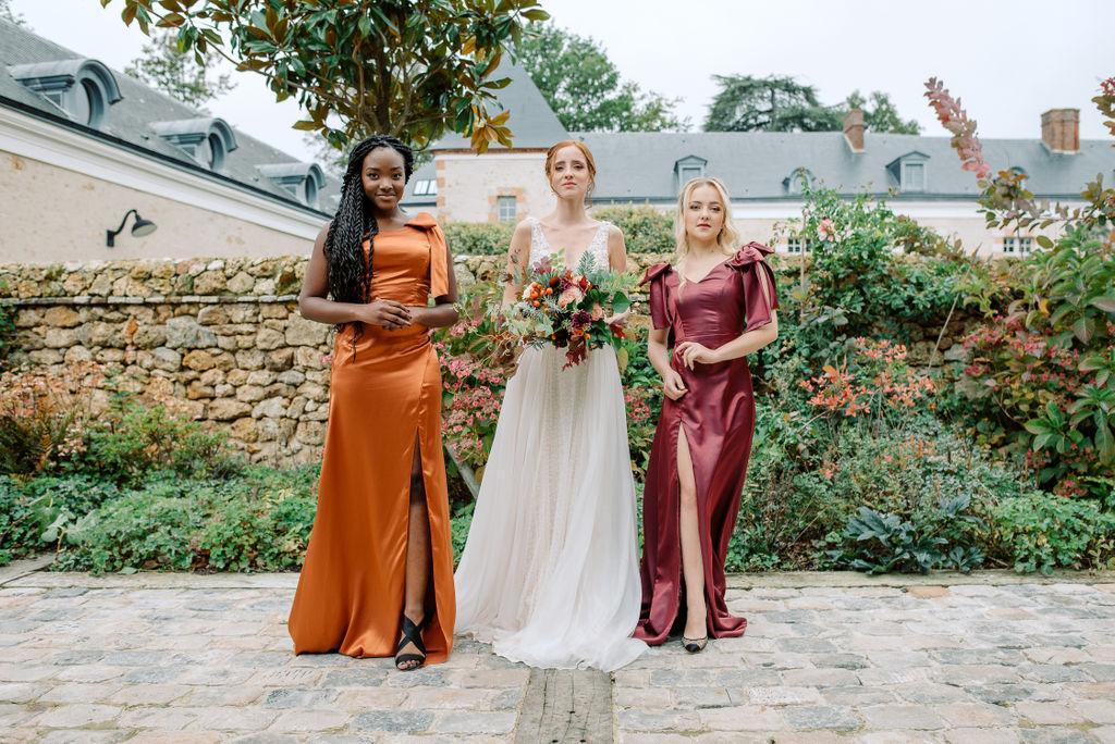 robes de demoiselles d'honneur couleur automne