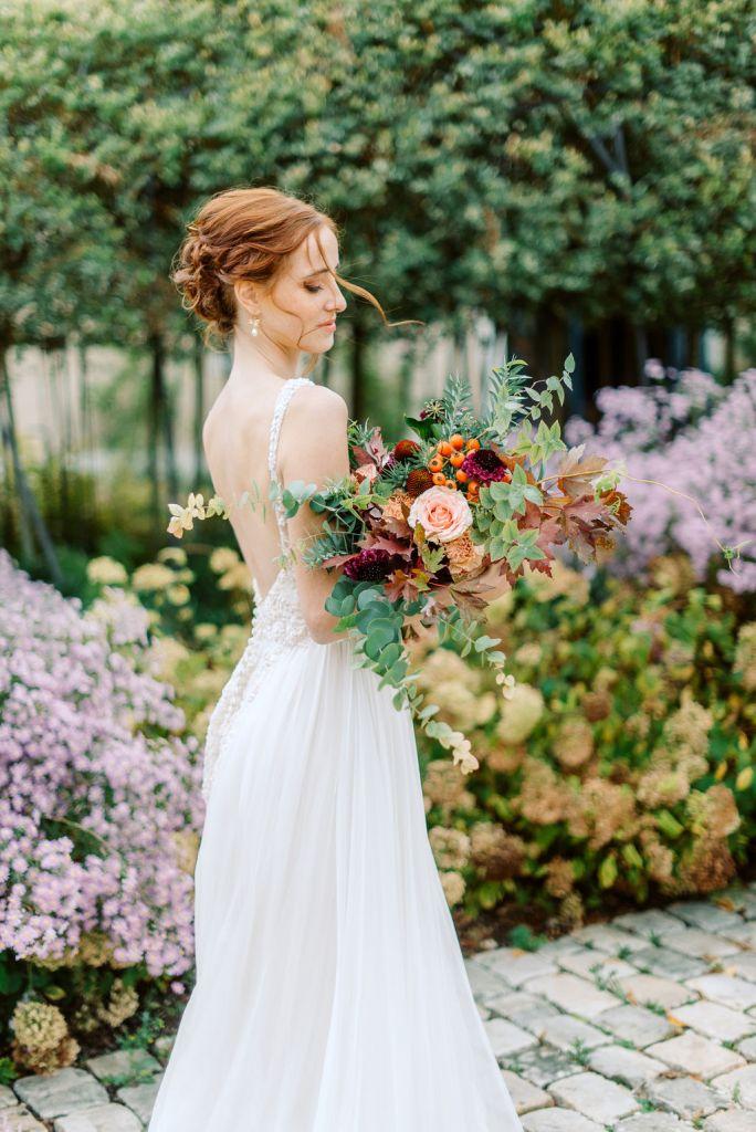 bouquet de mariage automne