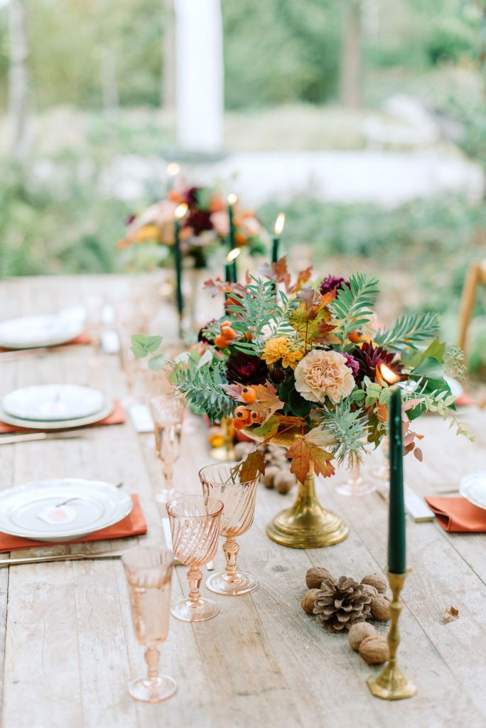 table de mariage automne