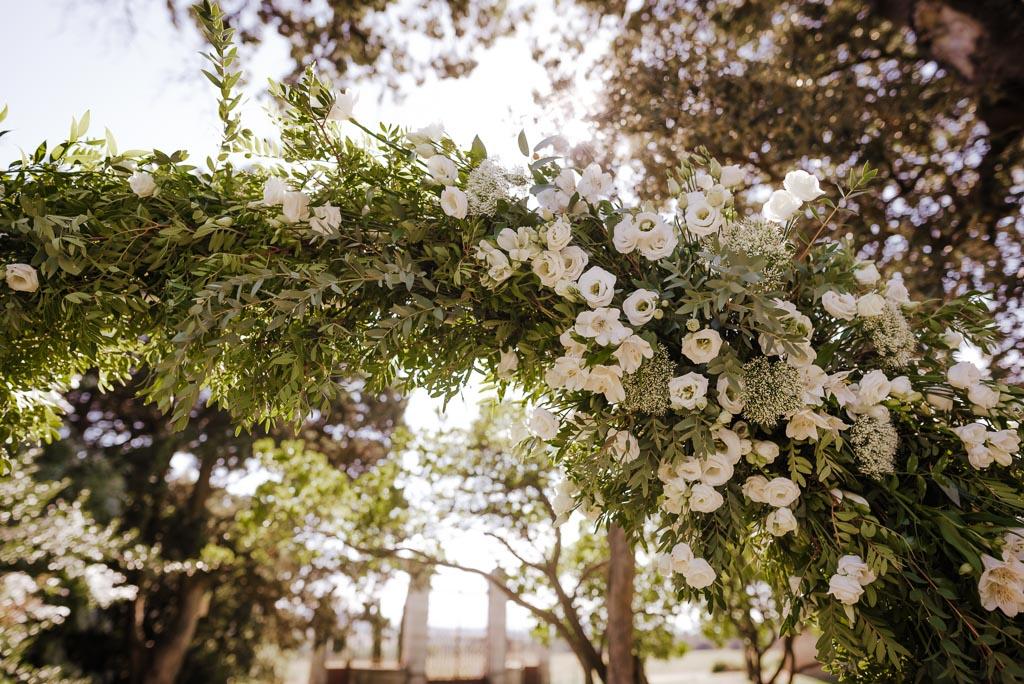 Arche végétale de mariage