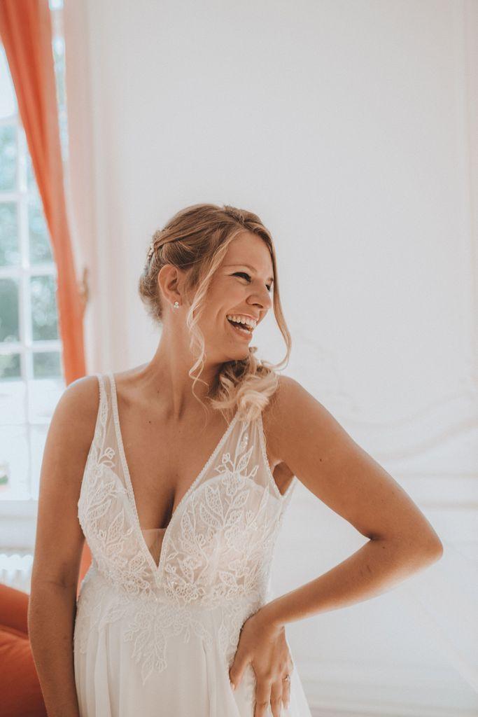 Mariage en Auvergne femme ronde