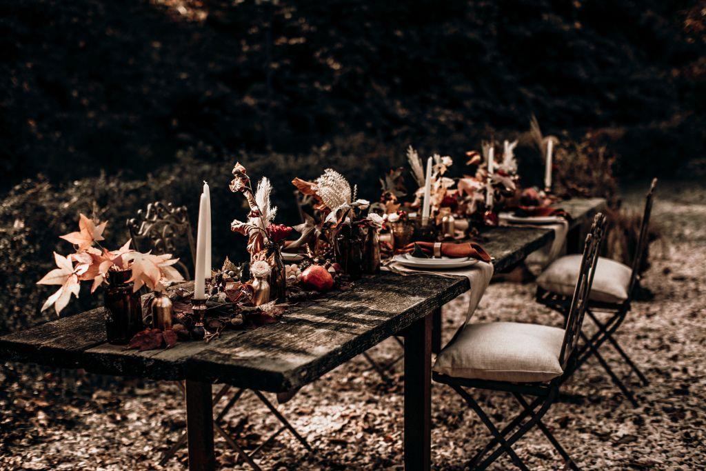 Décoration de table mariage automne
