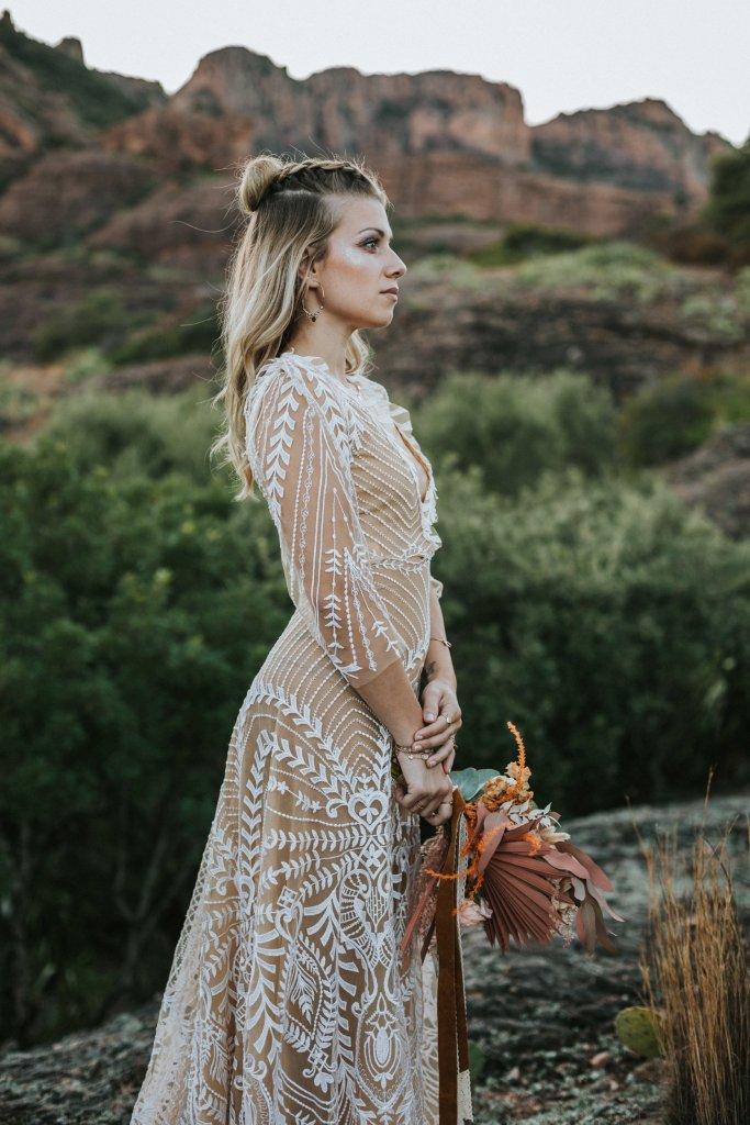 Mariage alternatif Coachella robe de mariee