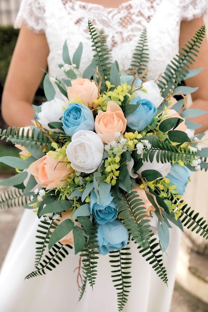 bouquet de mariage pastel