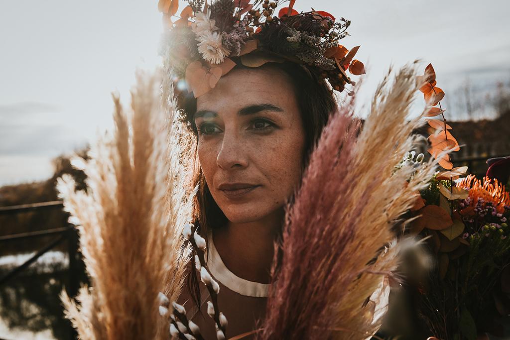 La mariée de la caserne fleurs
