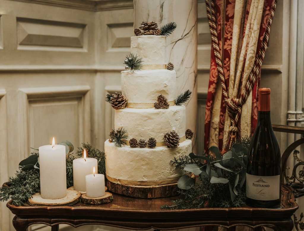 Mariage au château wedding cake