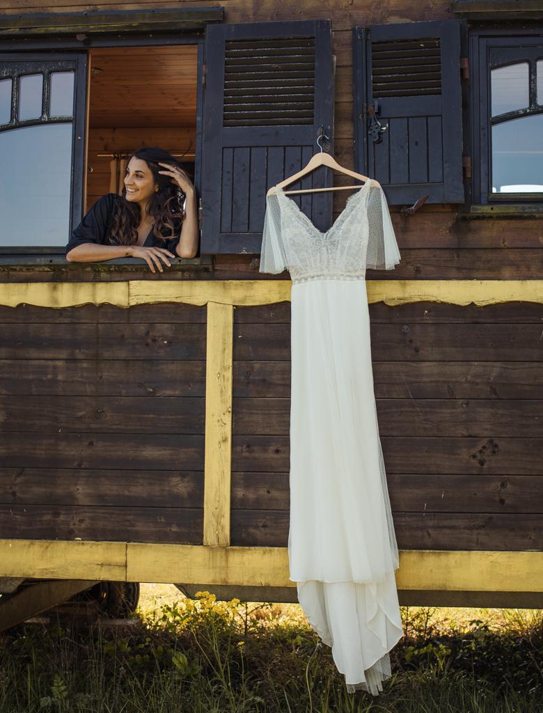 Robe de mariée roulotte