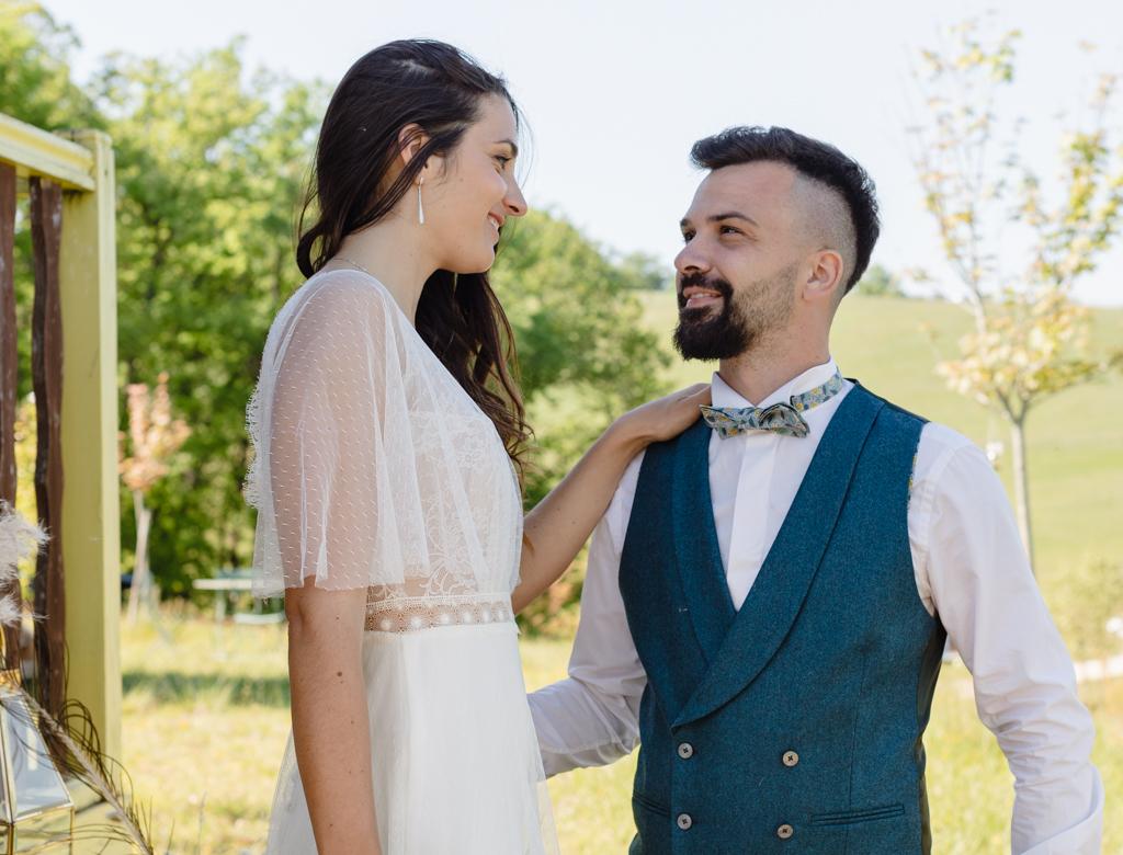 mariage dans une roulotte