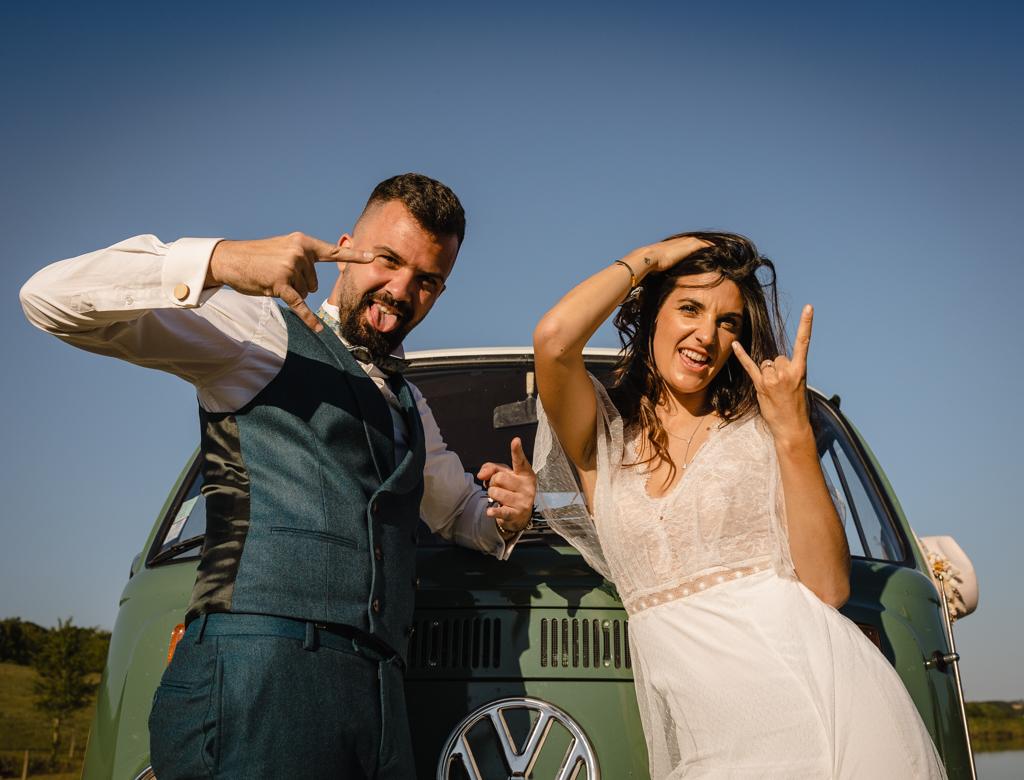mariage dans un combi