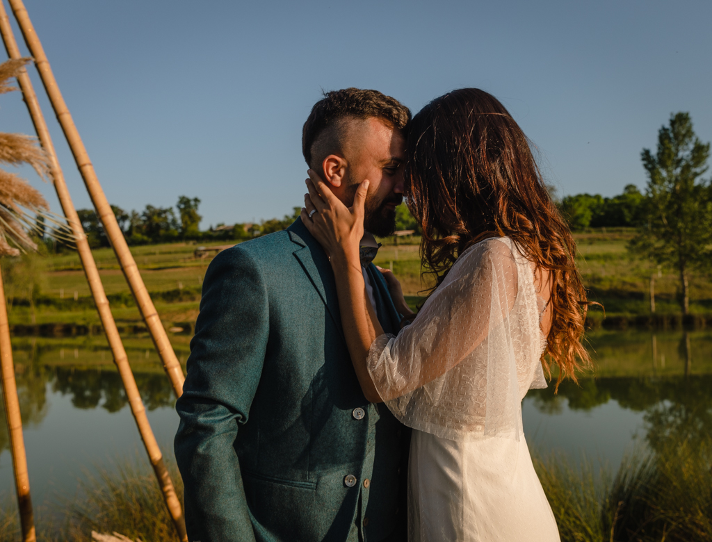 mariage bohème en pleine nature