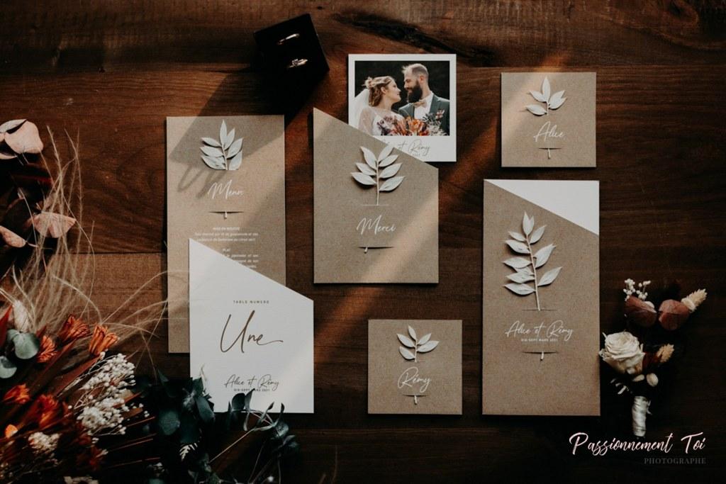 papeterie blé kraft mariage