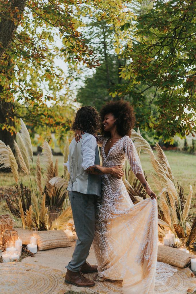 Mariage alternatif boho