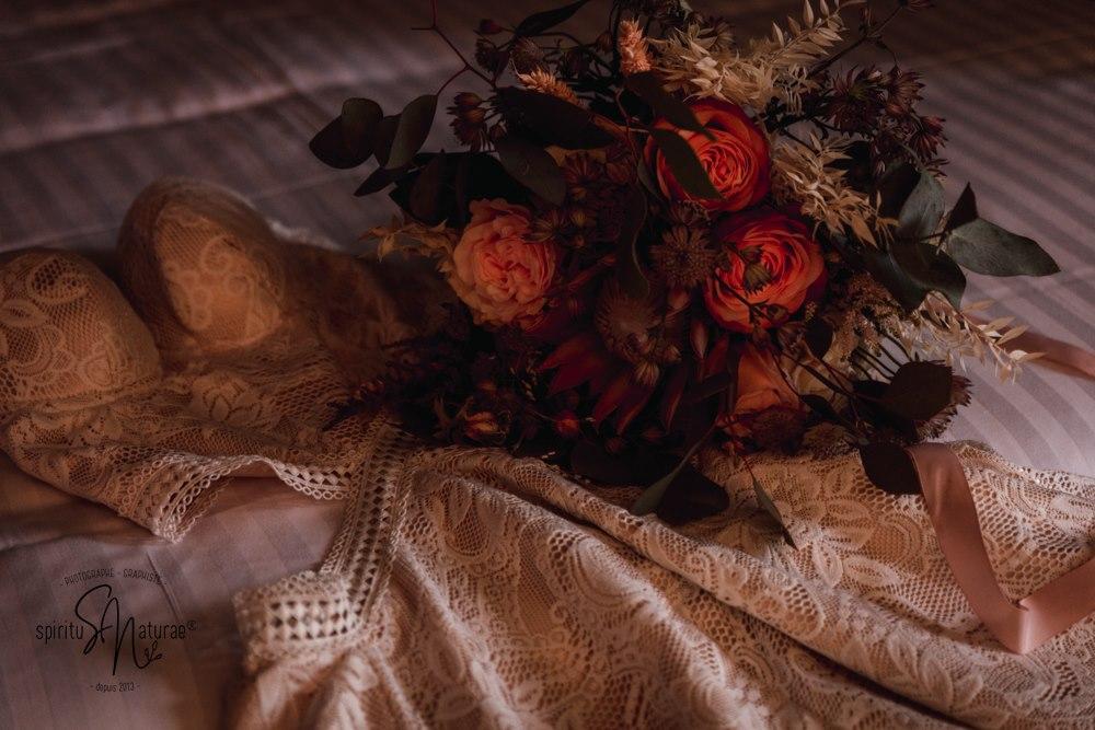 Robe de mariée bohème à dentelle