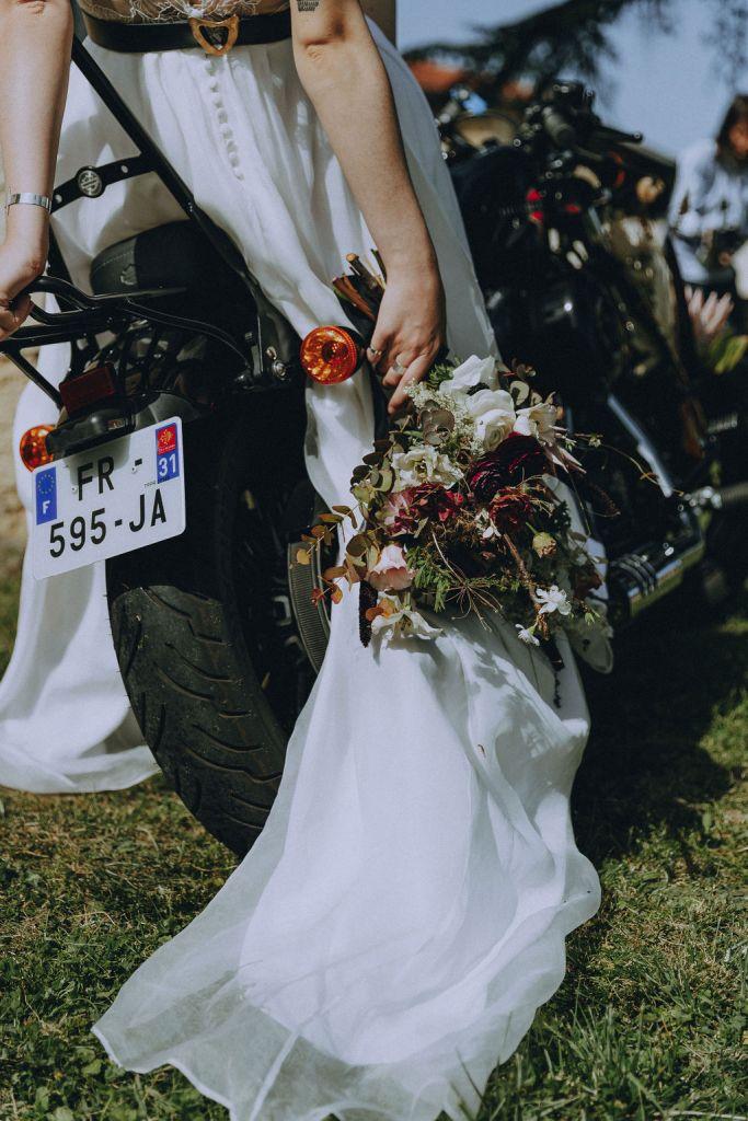 bouquet de fleurs fraiches et séchées