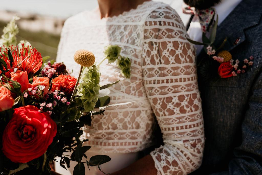 Tenue de mariage bohème
