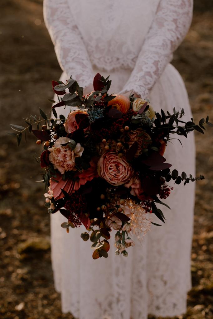 bouquet de fleurs hiver