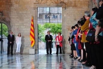 Artur Mas pren la paraula en la tradicional salutació del president a l'alcalde de Barcelona / Judit Valdés