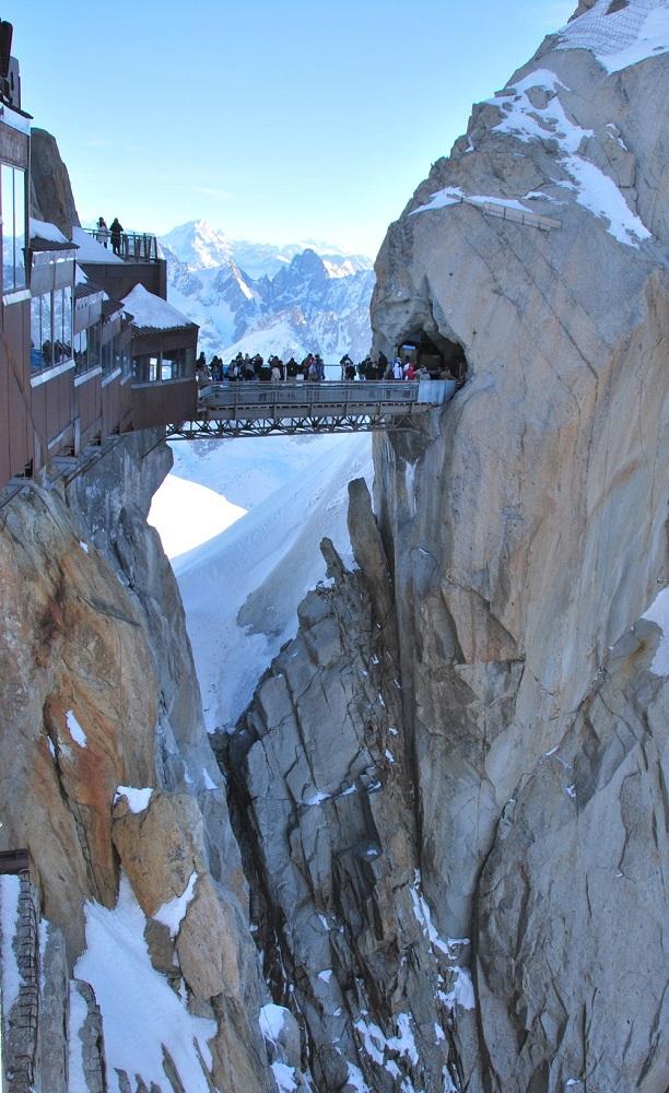 Hiver à Chamonix Mont Blanc - sommet de l'Aiguille du midi