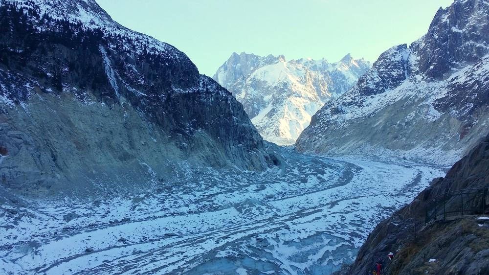Hiver à Chamonix - Mont Blanc : la mer de glace
