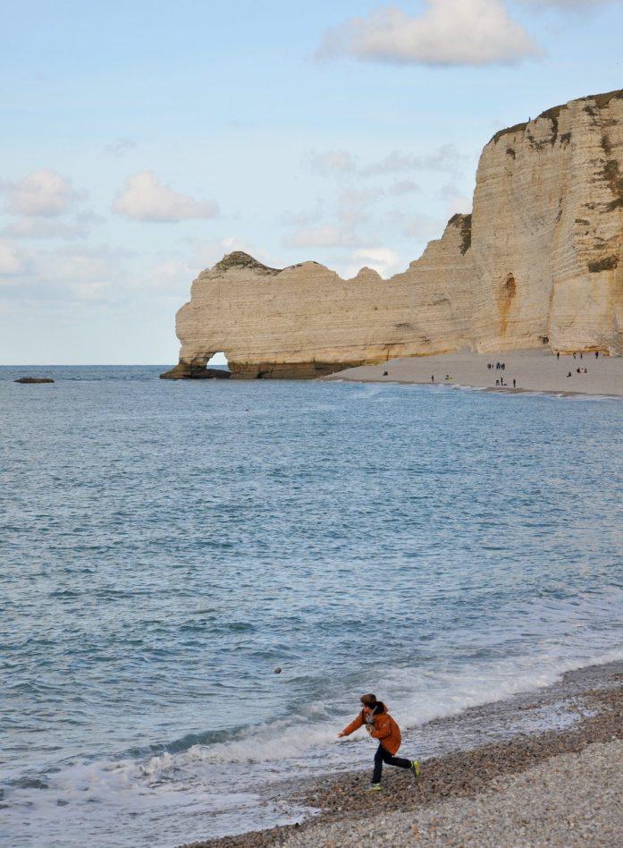 Une journée aux falaises d'Etretat - falaise d'amont
