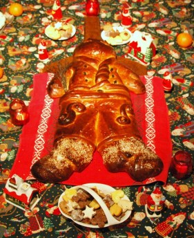 Traditions alsaciennes - table dressée pour fêter la Saint Nicolas