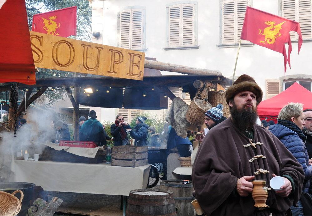 Le marché de Noël médiéval de Ribeauvillé - soupe médiévale