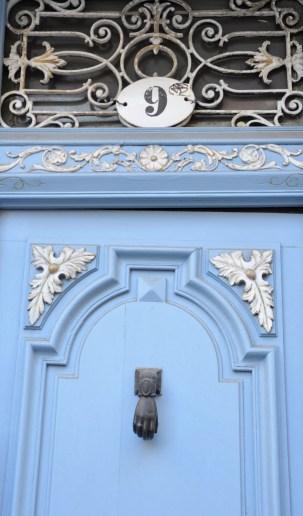 Toulouse - porte bleu pastel