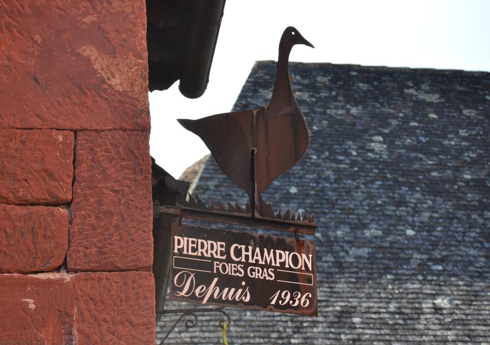 Collonges la Rouge - le foie gras régional