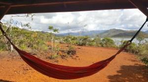 Nouvelle Calédonie - hamac au parc de la rivière bleue