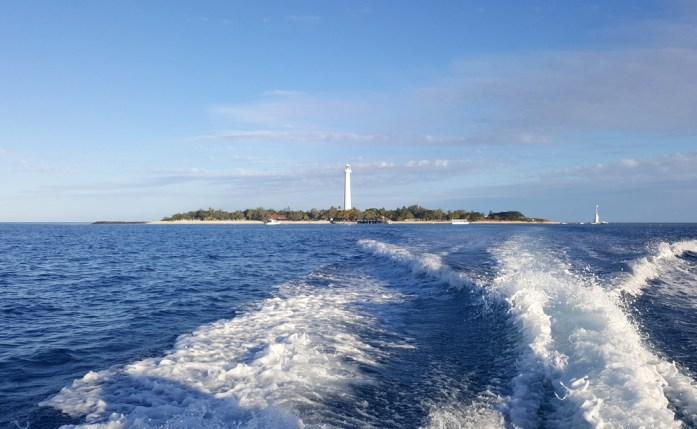 L'îlot Amédée vu de la mer