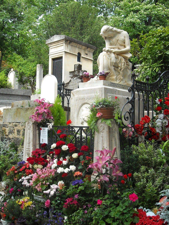 Paris - la tombe de Chopin au cimetière du Père Lachaise