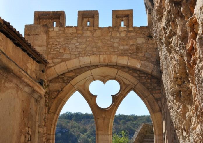Détail architectural du palais épiscocal de Rocamadour