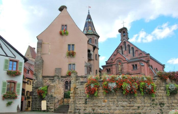 Découvrir Eguisheim en Alsace - château Saint Léon
