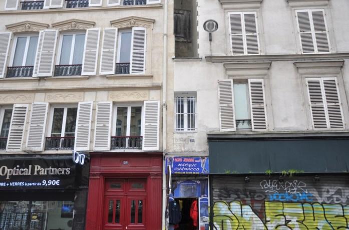 Paris en records - maison la plus étroite